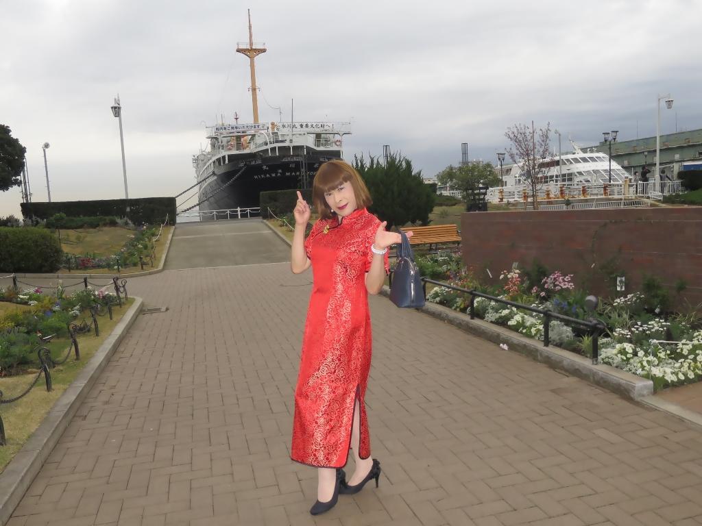 山下公園赤チャイナ服C(7)