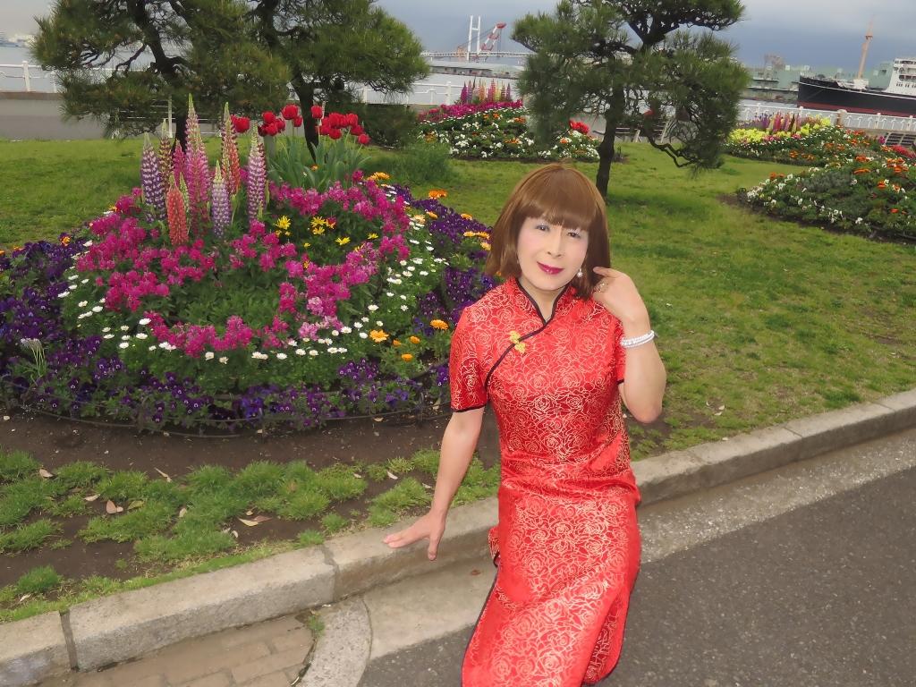 山下公園赤チャイナ服F(1)