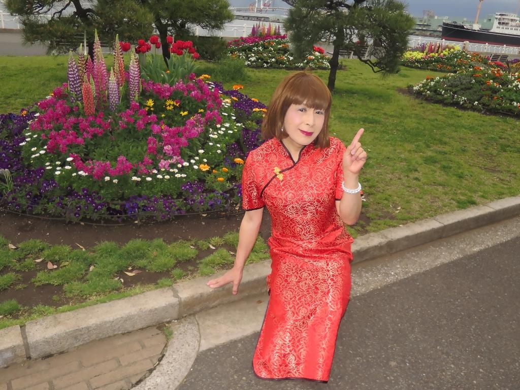 山下公園赤チャイナ服F(2)