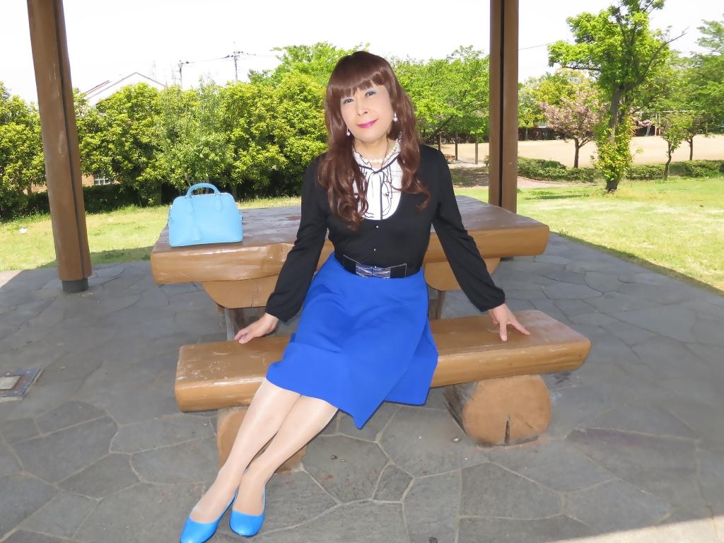 黒トップ青フレアC(5)