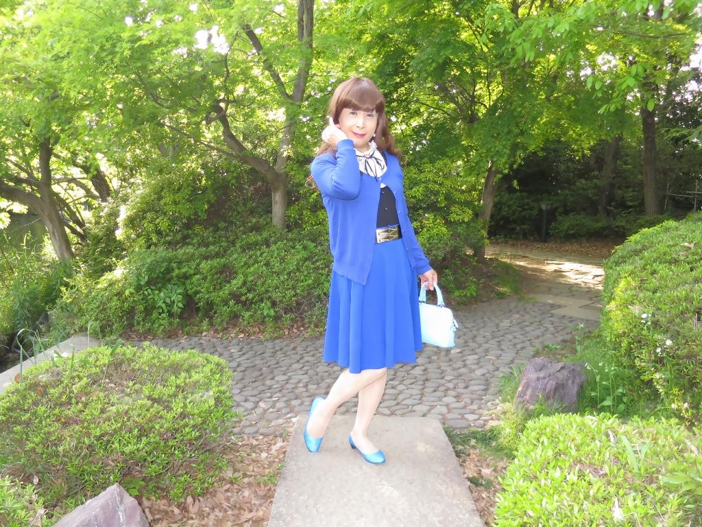 青カーデ青フレアB(6)