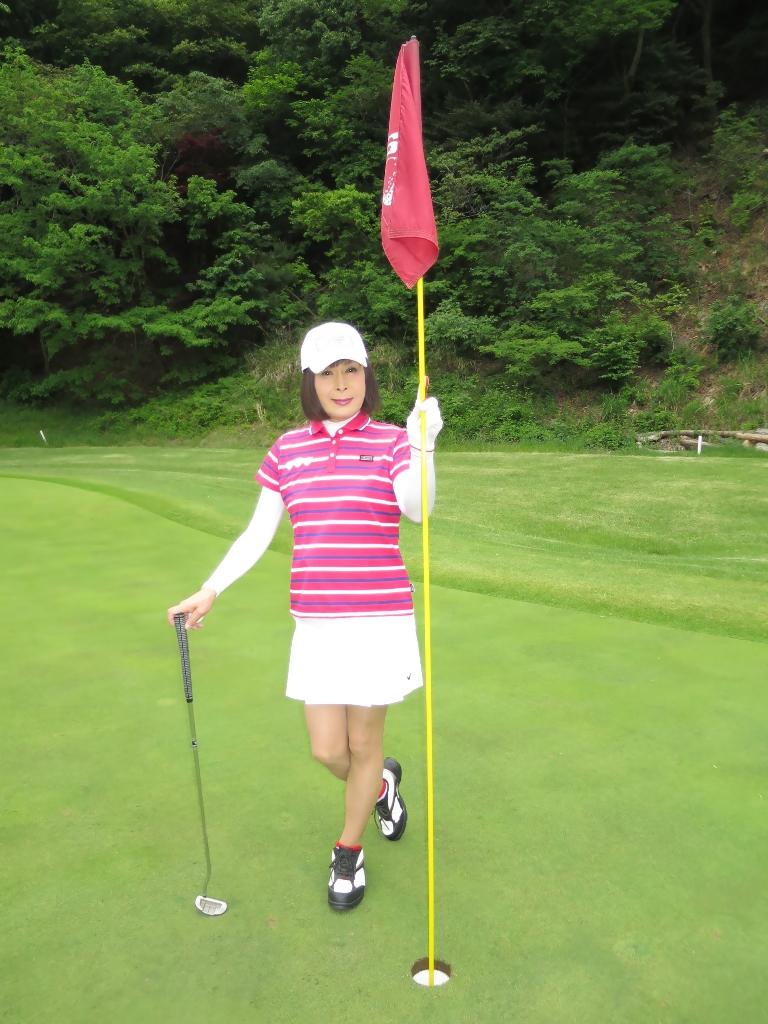 赤ボーダーポロゴルフE(1)