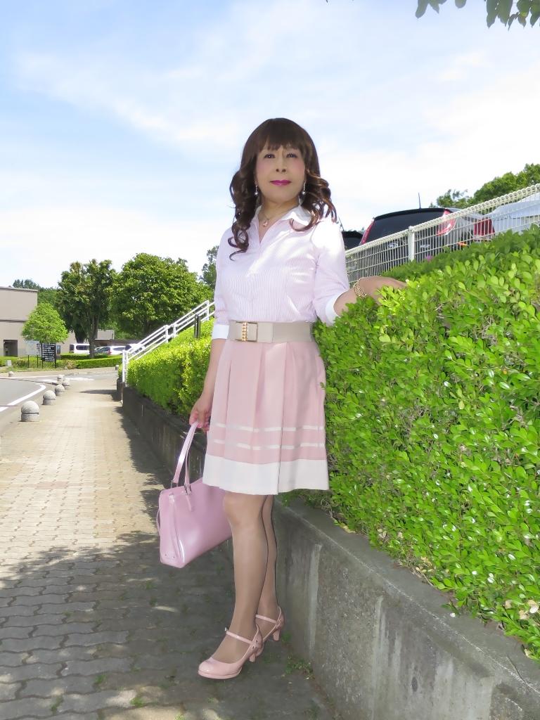 ピンクシャツスカートA(2)