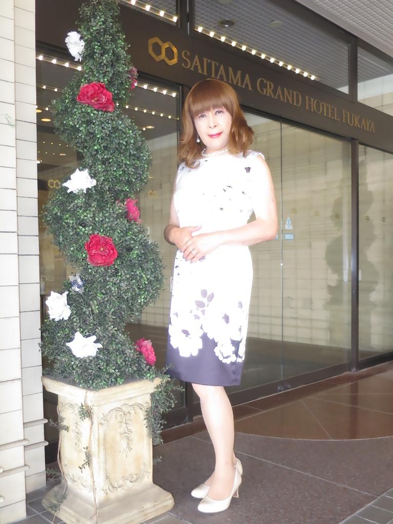 モノトーン花柄ワンピA(1)
