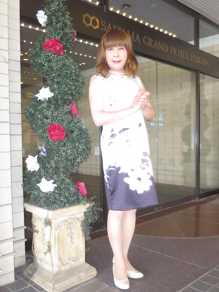 モノトーン花柄ワンピA(3)