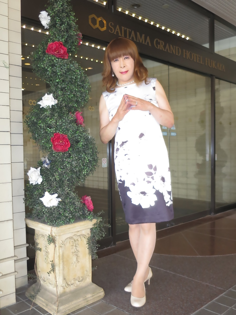 モノトーン花柄ワンピA(4)