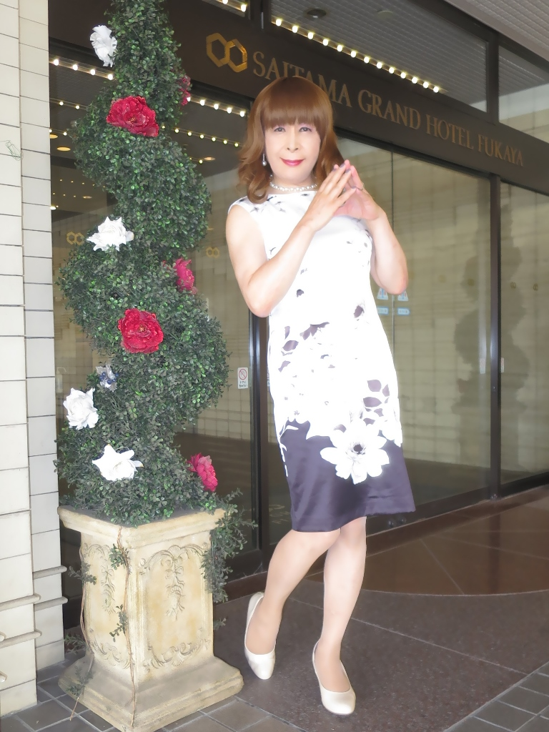 モノトーン花柄ワンピA(5)