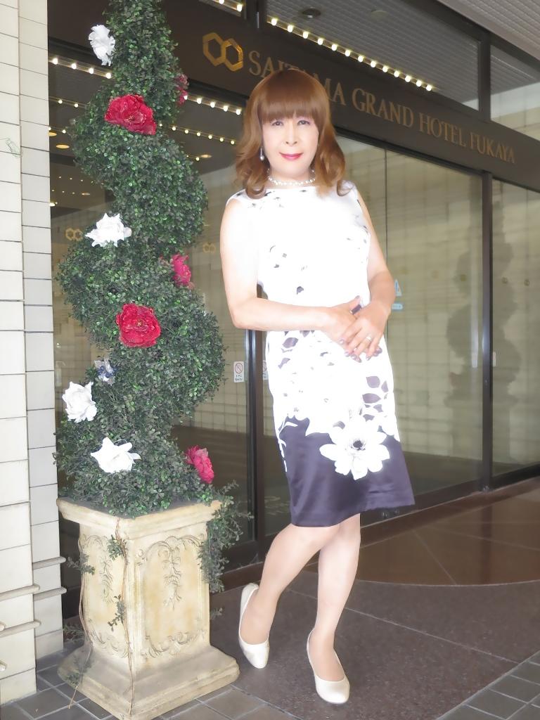 モノトーン花柄ワンピA(6)