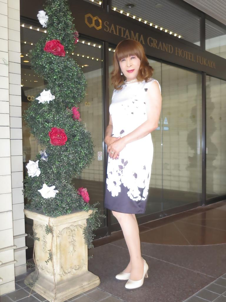 モノトーン花柄ワンピA(7)