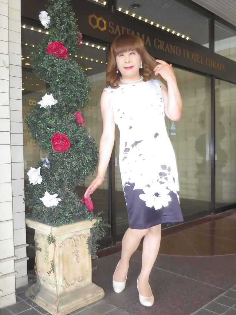 モノトーン花柄ワンピA(8)