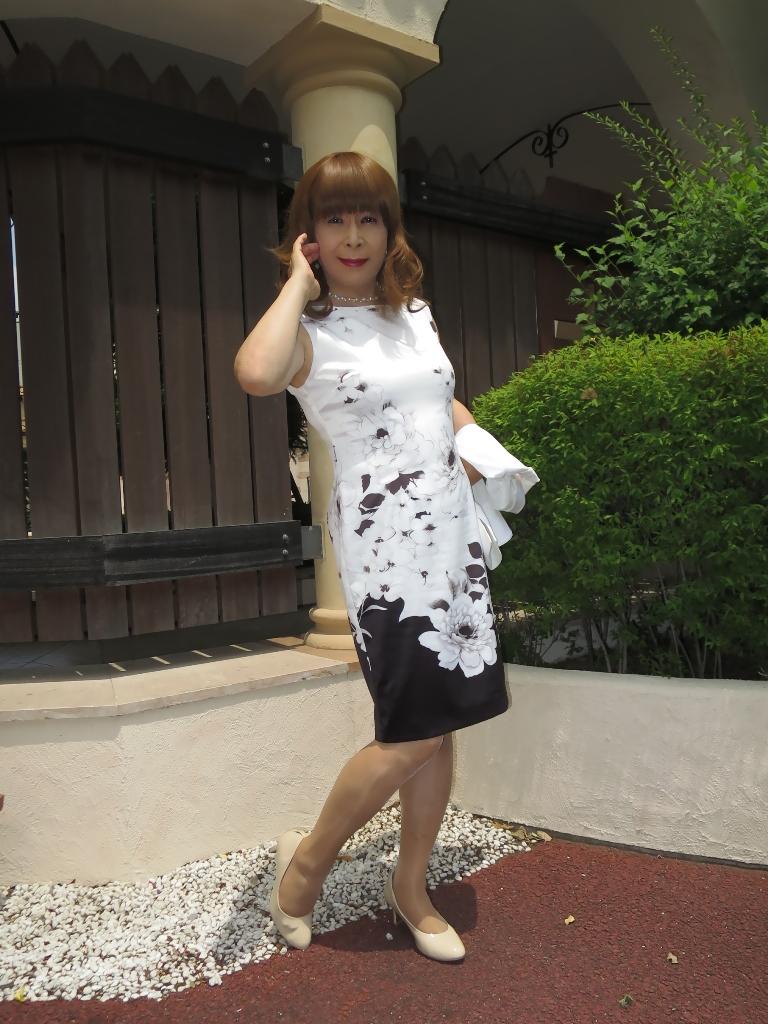 モノトーン花柄ワンピD(3)