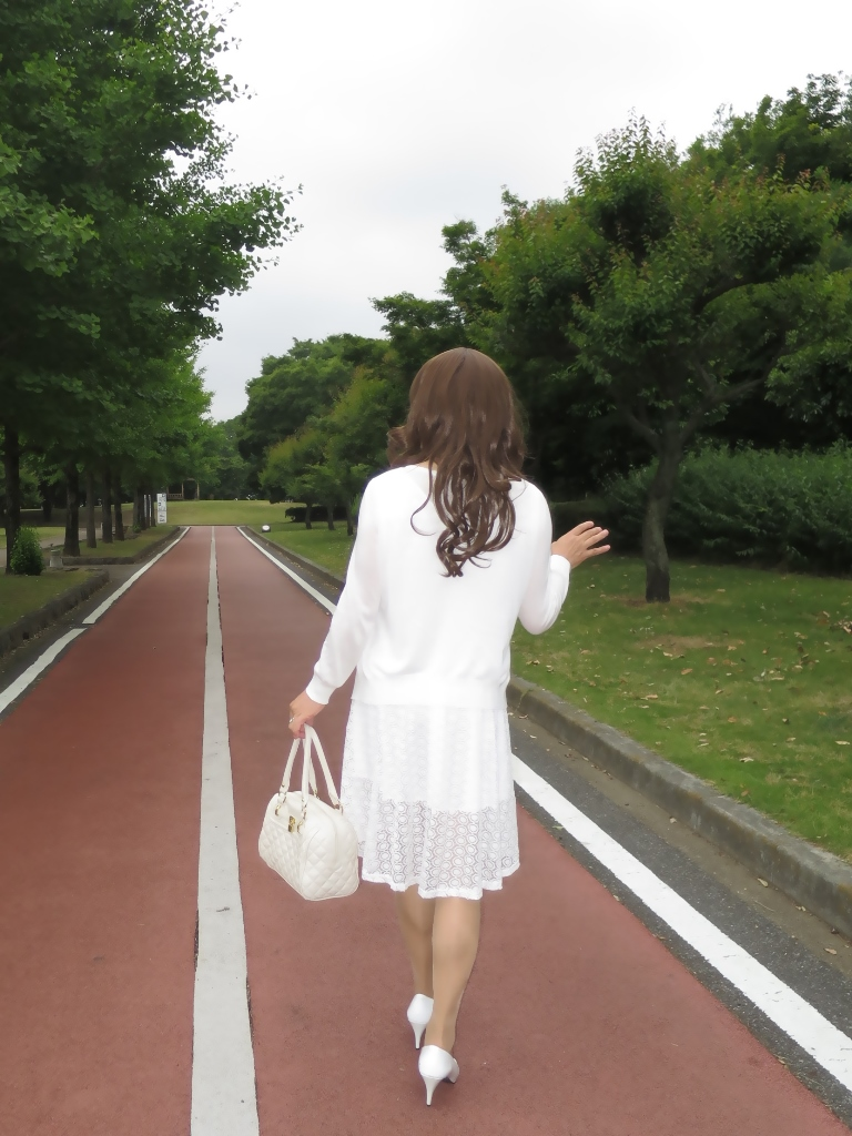 白レースワンピA(8)