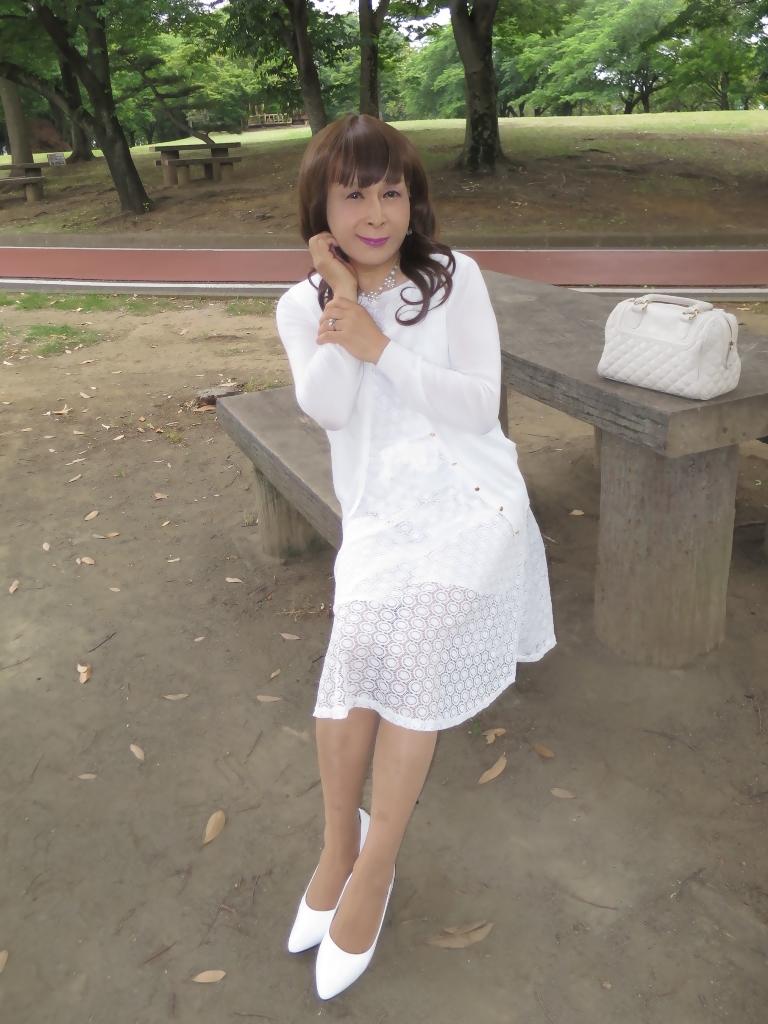 白レースワンピB(4)