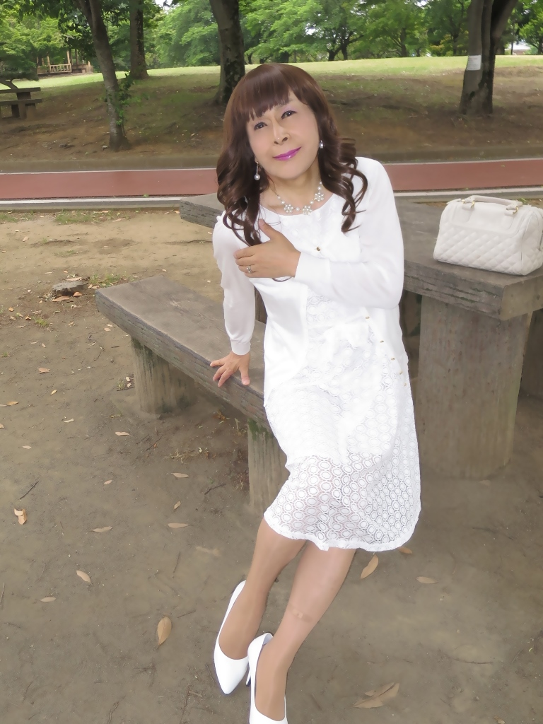 白レースワンピB(8)