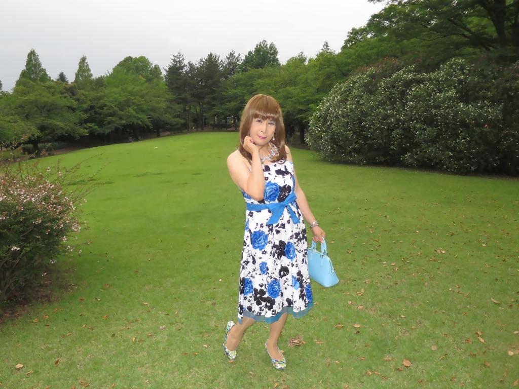 青薔薇柄ワンピA(3)