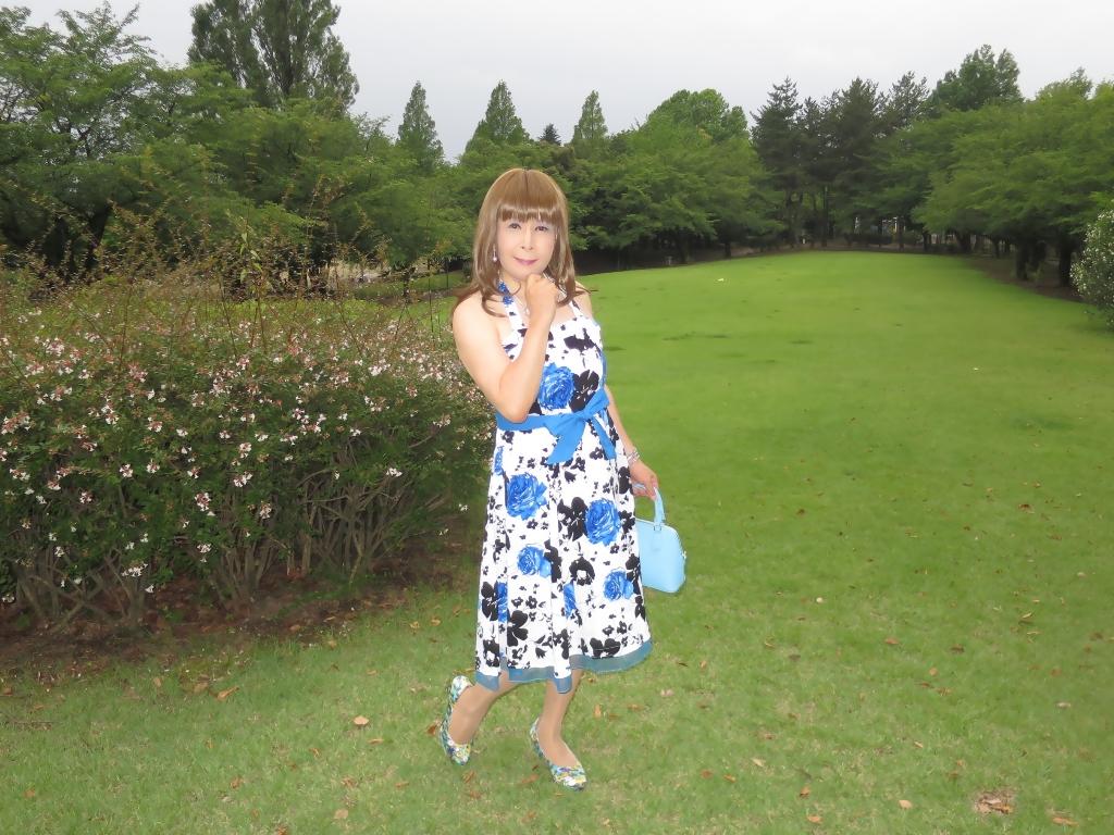 青薔薇柄ワンピA(5)