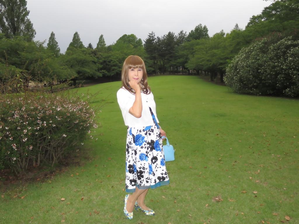 青薔薇柄ワンピA(2)