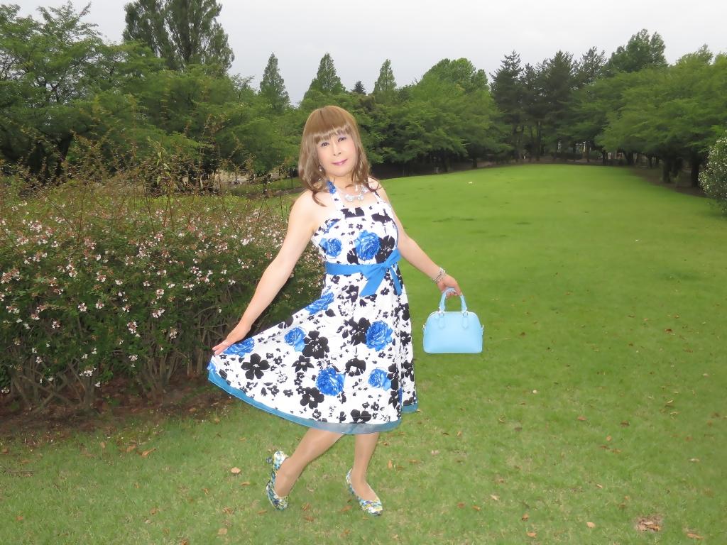 青薔薇柄ワンピA(6)
