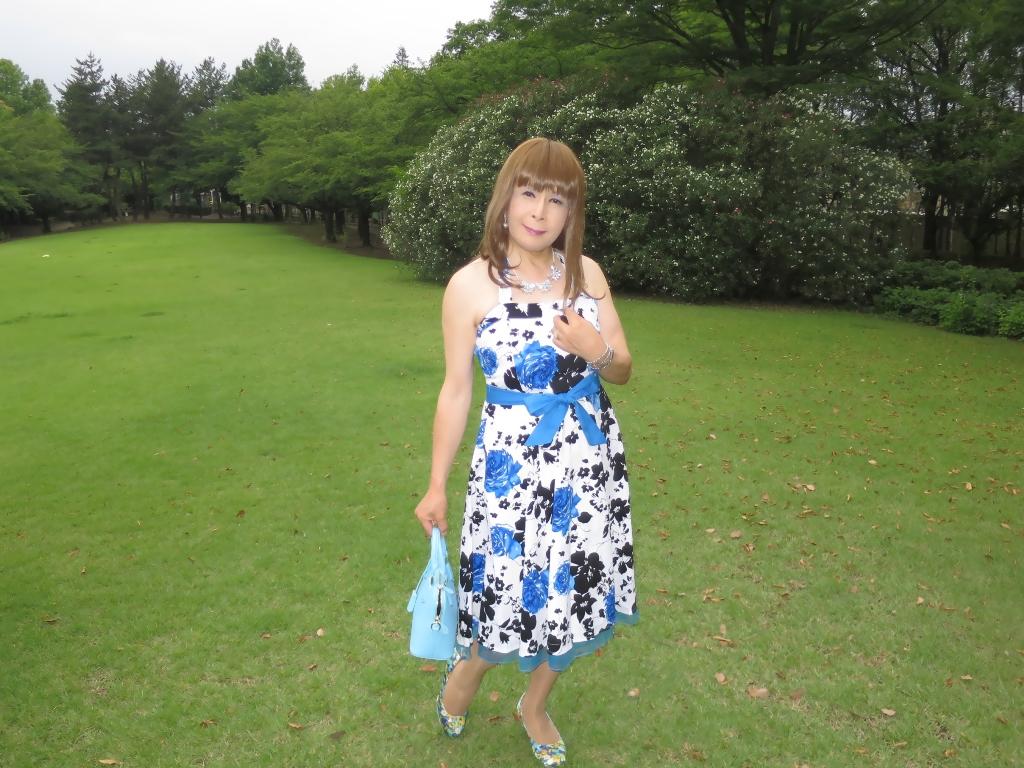 青薔薇柄ワンピA(8)