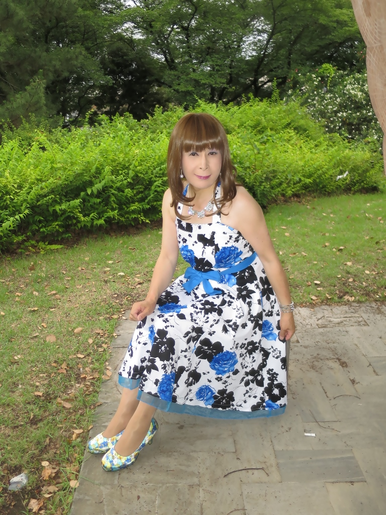 青薔薇柄ワンピB(3)