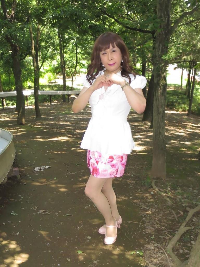 ロングブラウス薔薇柄ミニスカA(6)