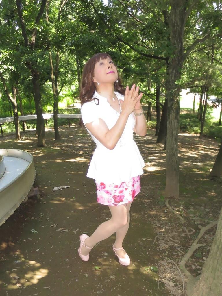 ロングブラウス薔薇柄ミニスカA(8)
