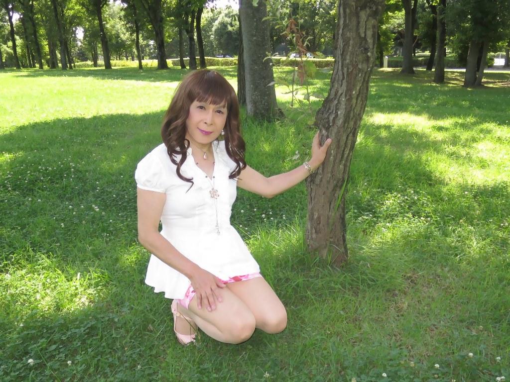 ロングブラウス薔薇柄ミニスカD(6)