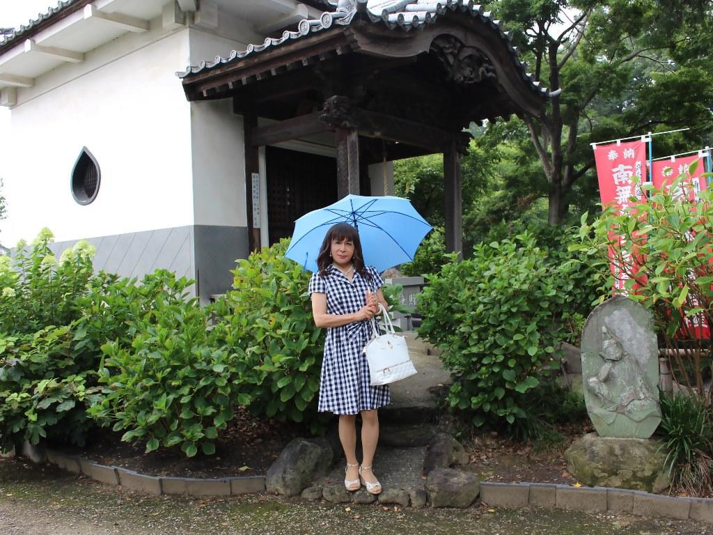 ギンガムチェックワンピ雨傘A(3)