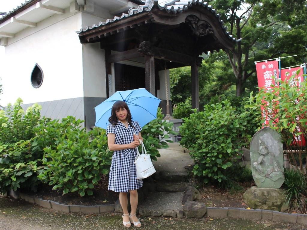 ギンガムチェックワンピ雨傘A(4)