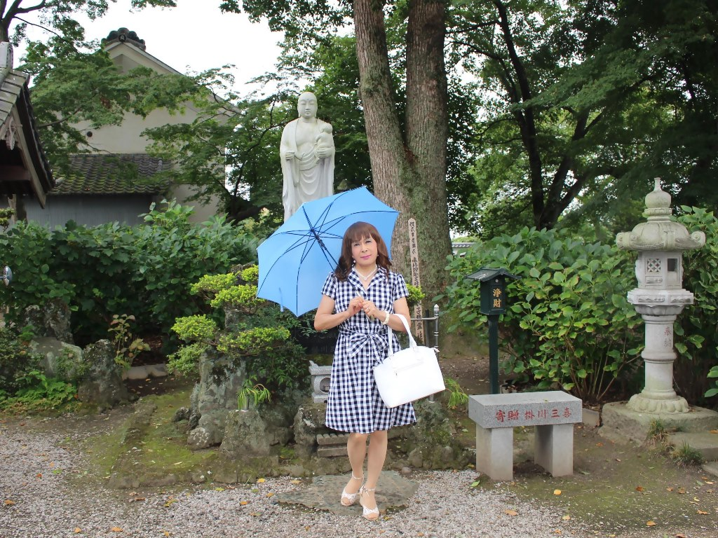 ギンガムチェックワンピ雨傘A(7)