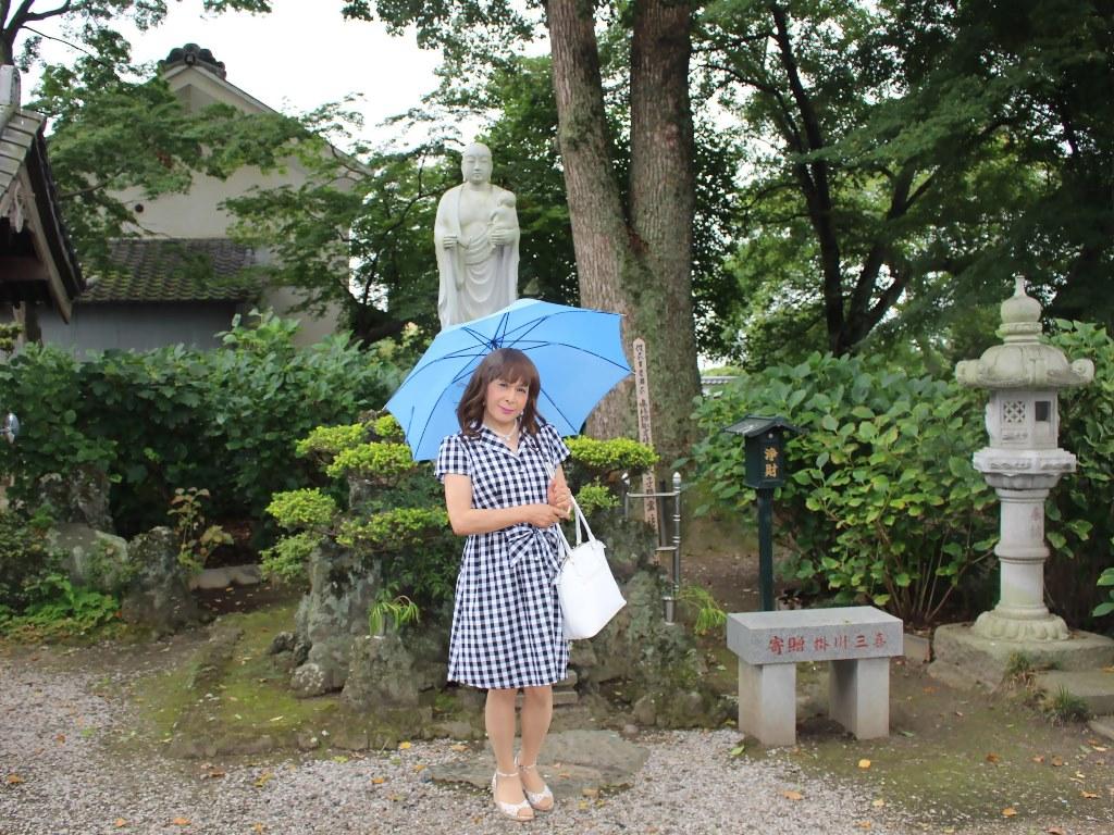ギンガムチェックワンピ雨傘A(8)