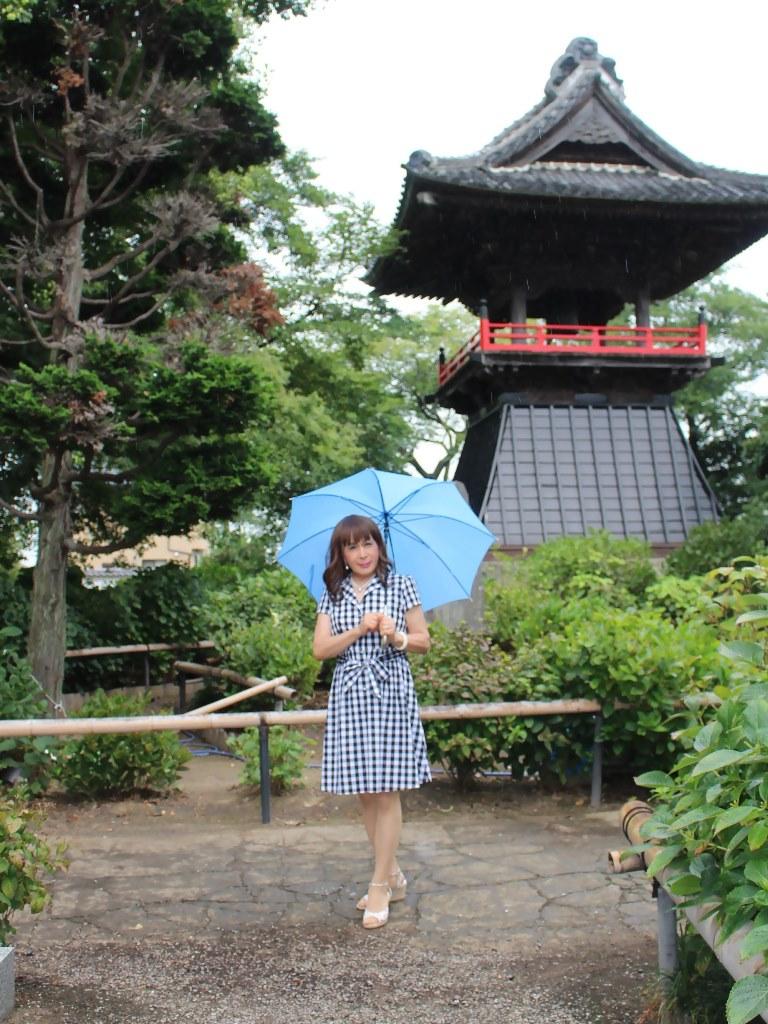 ギンガムチェックワンピ雨傘B(4)