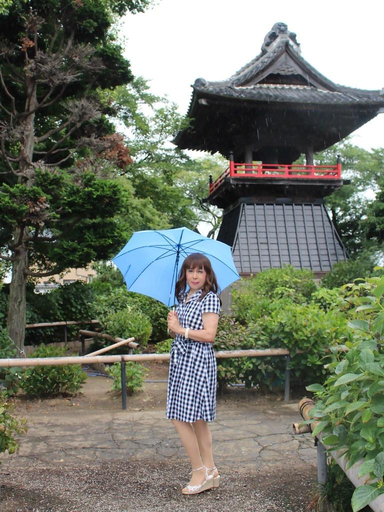 ギンガムチェックワンピ雨傘B(3)