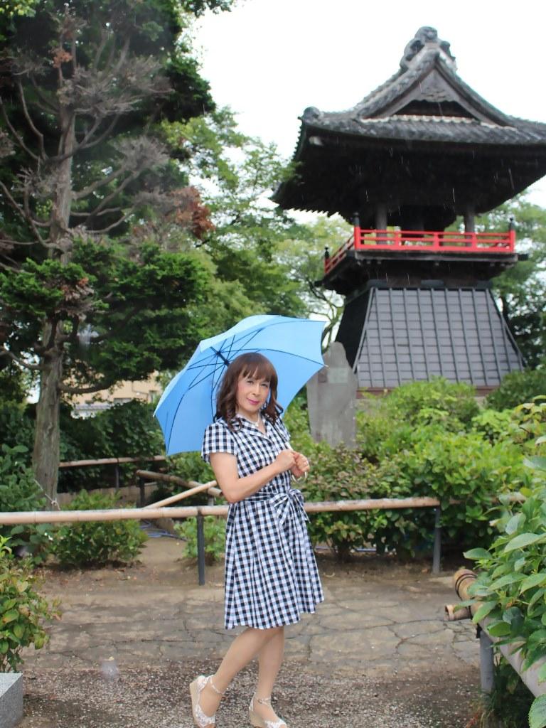 ギンガムチェックワンピ雨傘B(5)