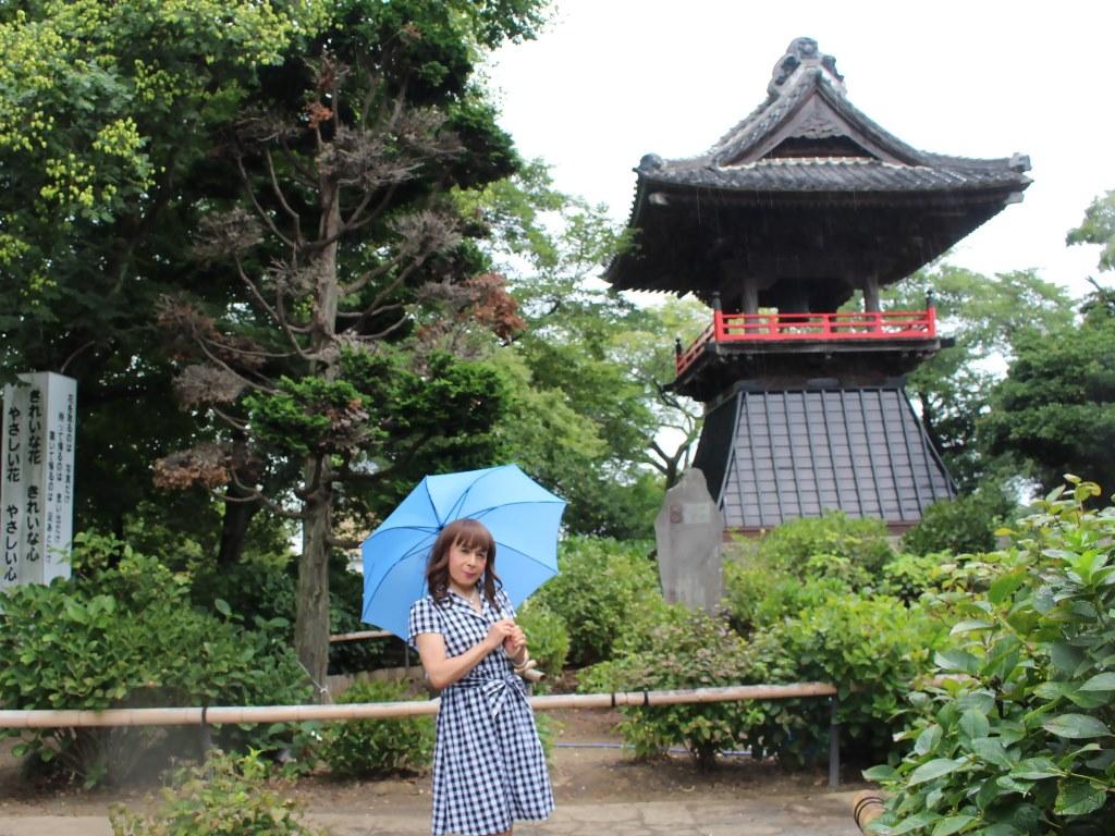 ギンガムチェックワンピ雨傘B(8)