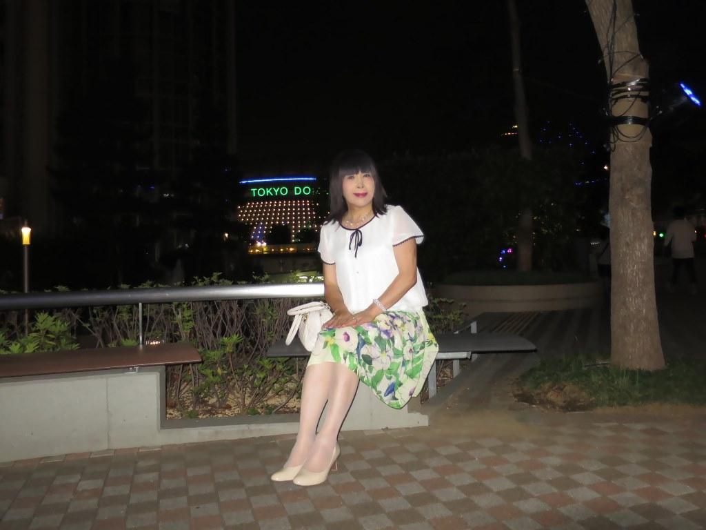 白ブラウス緑スカートA(8)