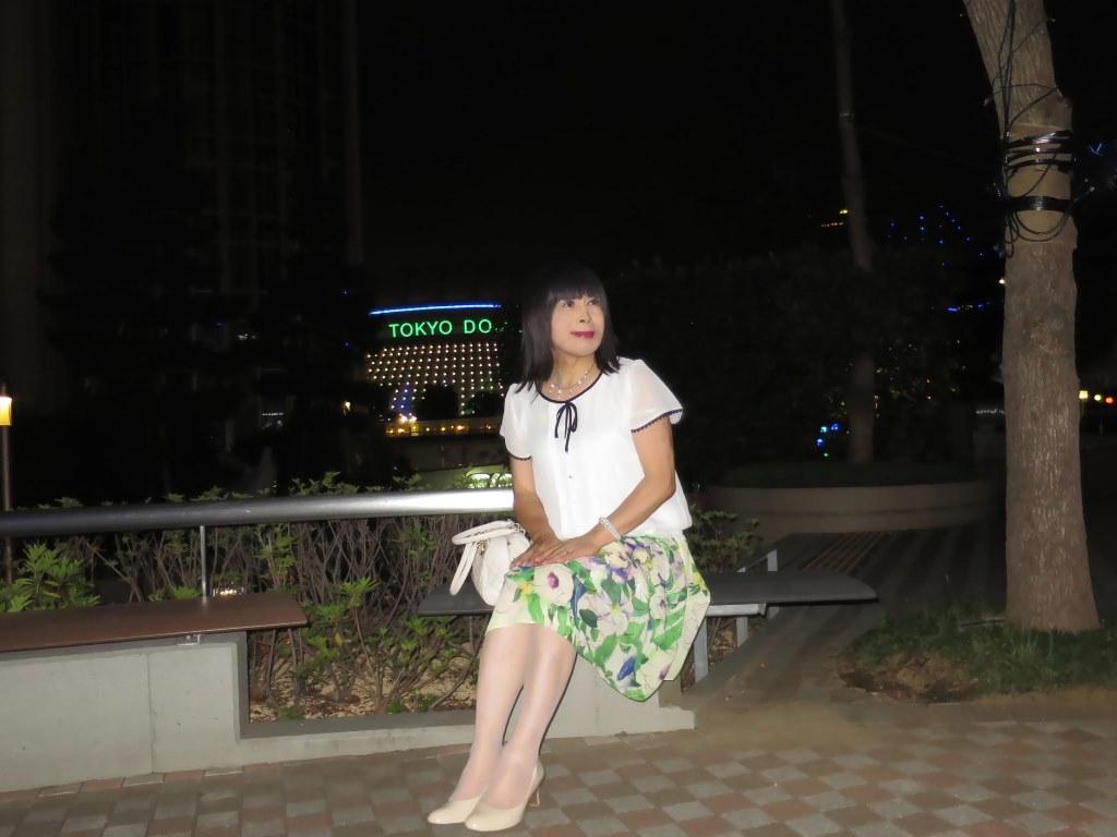 白ブラウス緑スカートA(9)