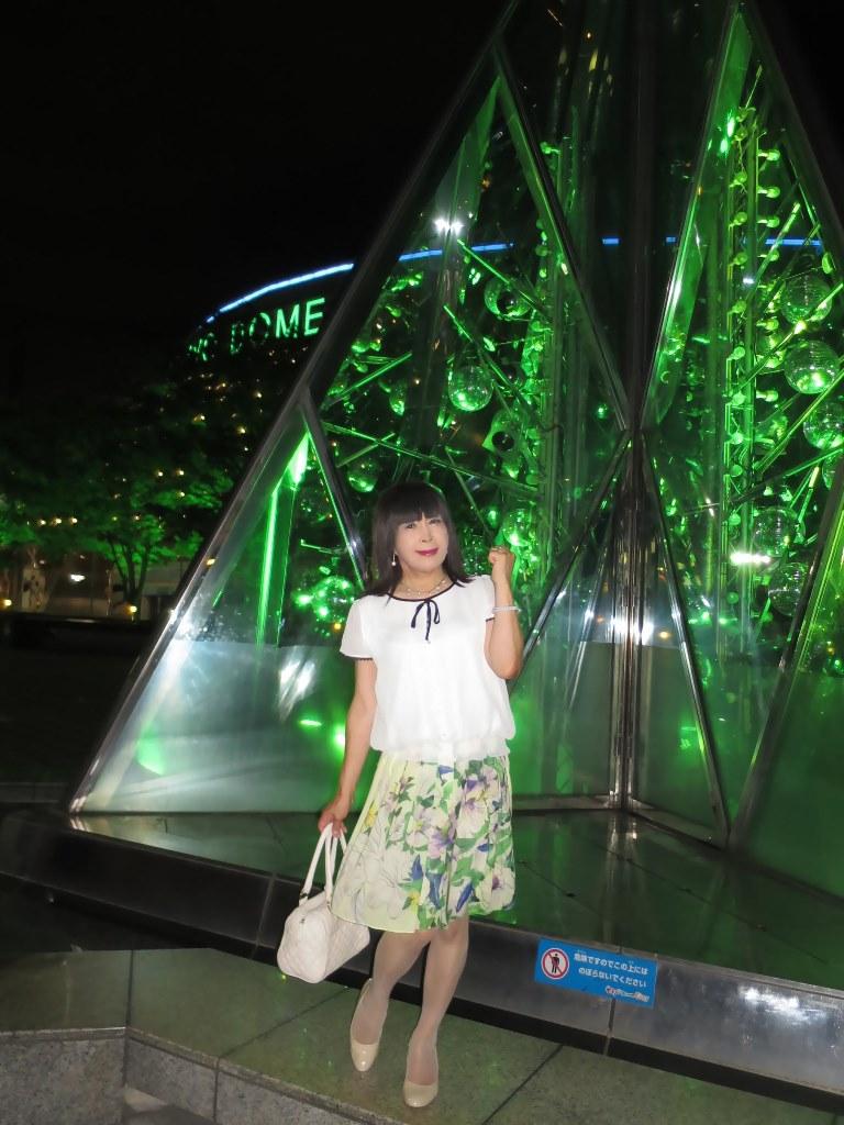 白ブラウス緑スカートB(5)