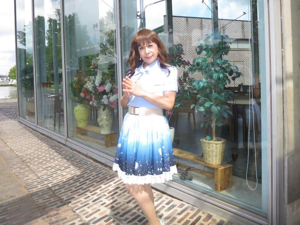 水色半袖ブラウス姫スカートA(6)