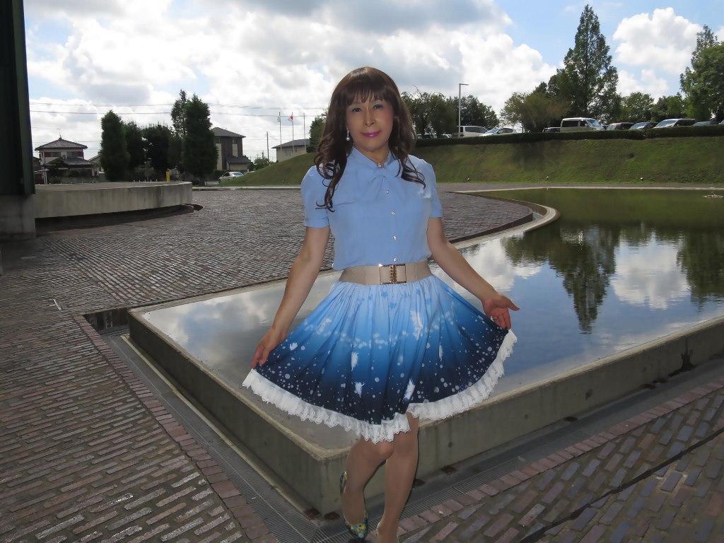 水色半袖ブラウス姫スカートA(7)