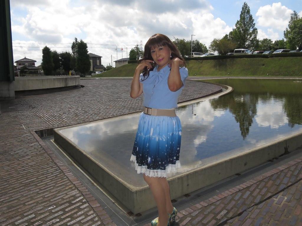 水色半袖ブラウス姫スカートA(8)
