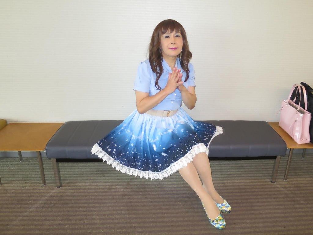 水色半袖ブラウス姫スカートC(5)