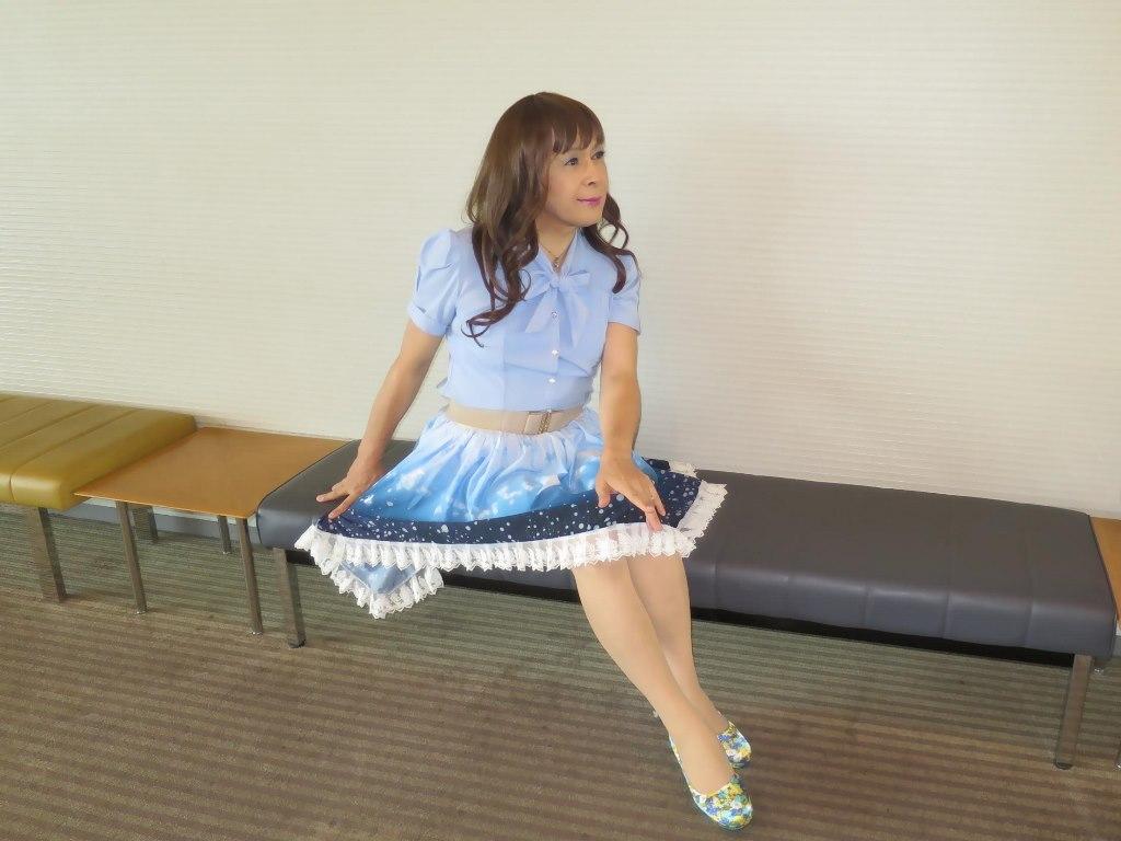 水色半袖ブラウス姫スカートC(6)