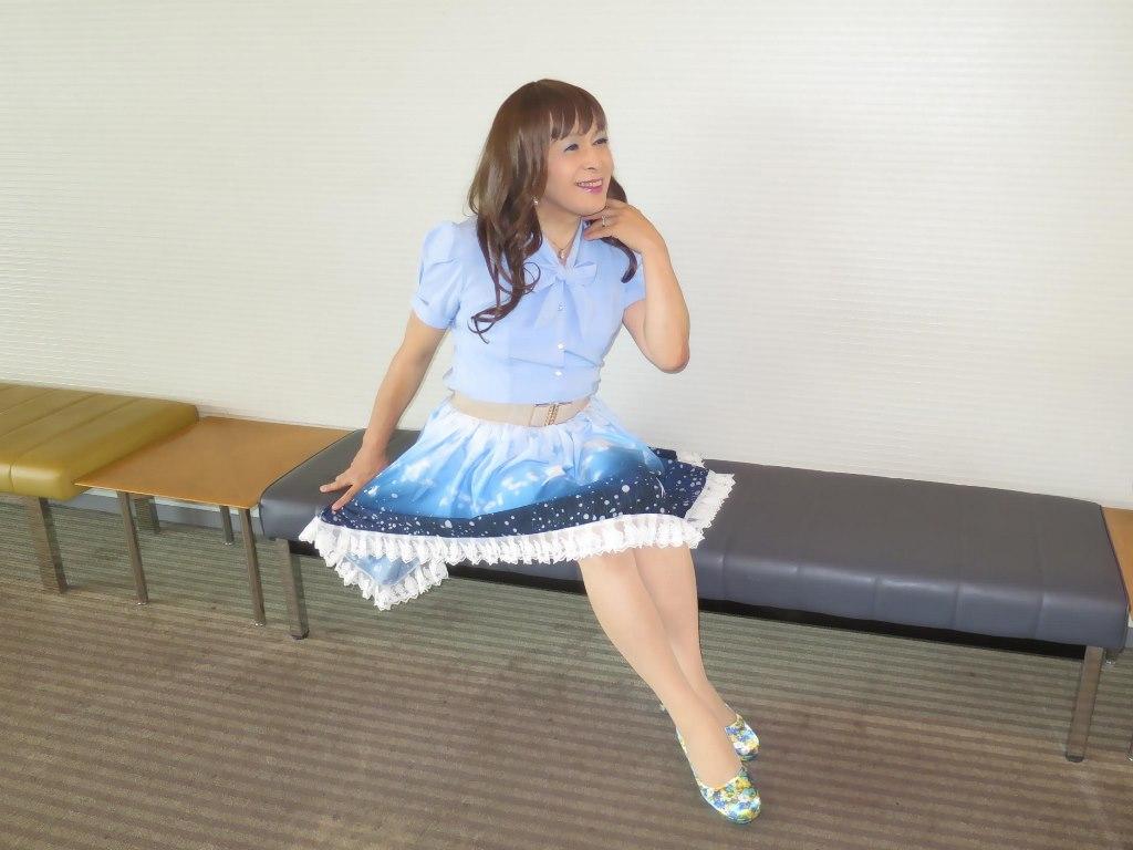 水色半袖ブラウス姫スカートC(7)