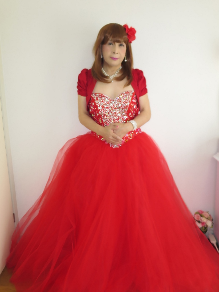 赤ドレス赤ボレロ(1)