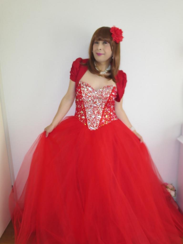 赤ドレス赤ボレロ(7)