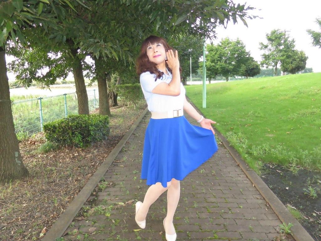 空色ブラウス青スカートA(5)
