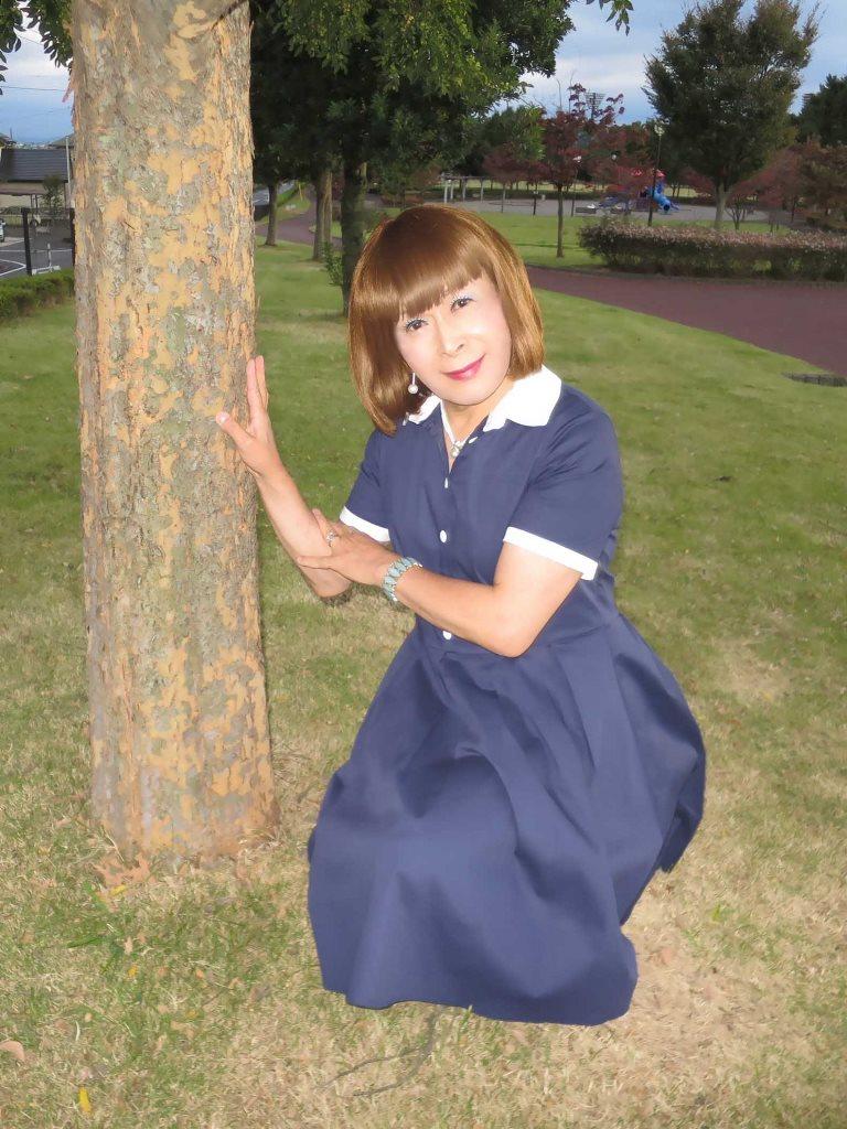 白襟紺色ワンピB(8)