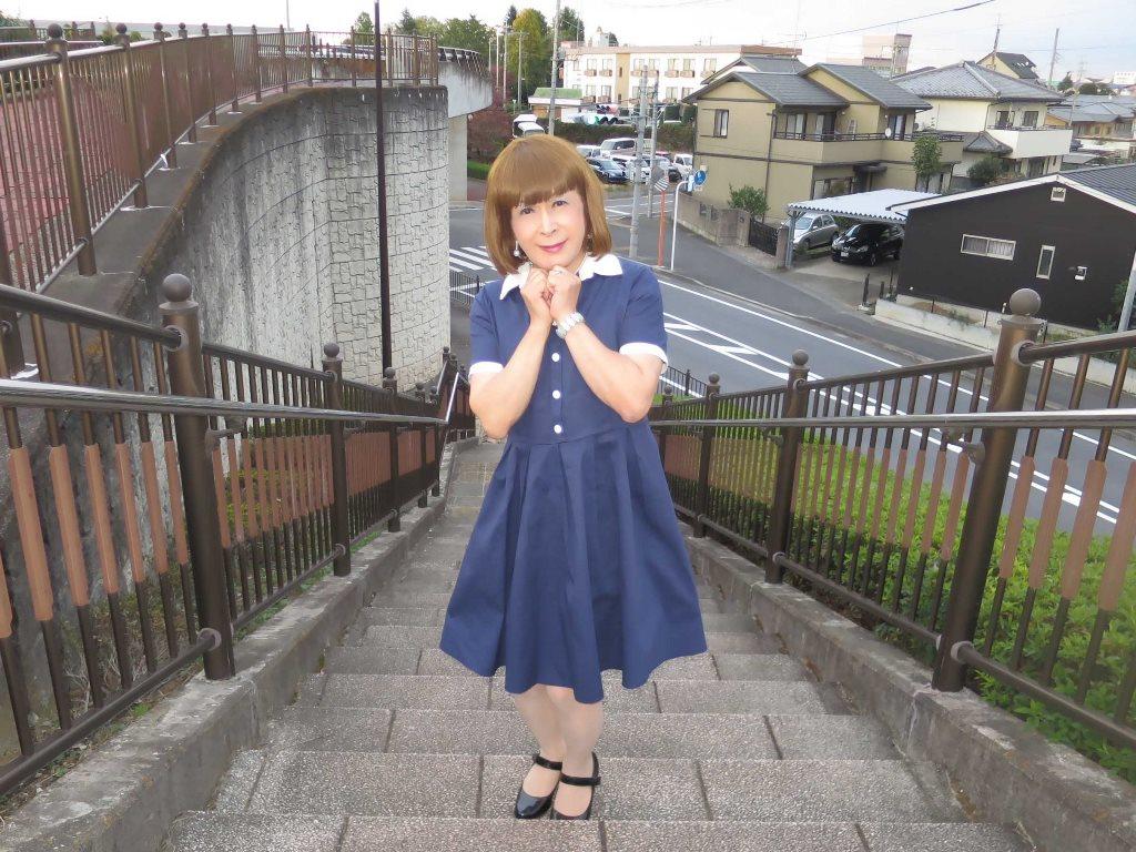 白襟紺色ワンピC(6)