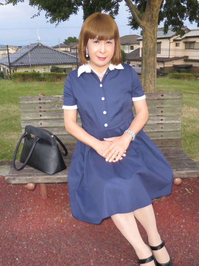 白襟紺色ワンピD(1)